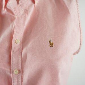 d2210506dce6f Ralph Lauren Sport Tops - Ralph Lauren Sport Sleeveless Oxford Shirt Pink 8